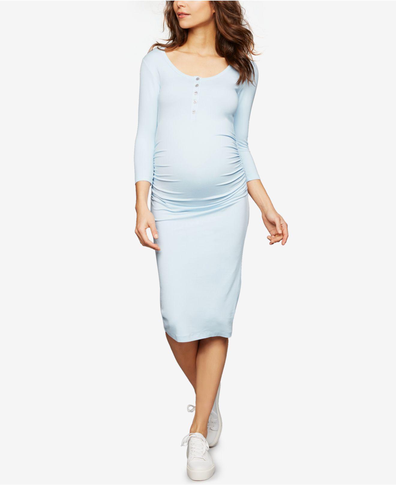 649272c265b55 Isabella Oliver Maternity Henley Sheath Dress in Blue - Save 20% - Lyst