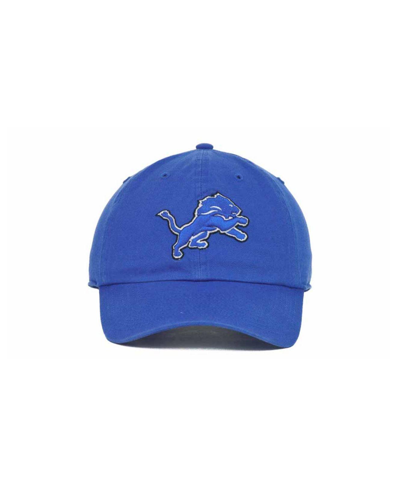 best authentic de2ee 2d9a5 ... new zealand lyst 47 brand detroit lions clean up cap in blue for men  eee2c dec51