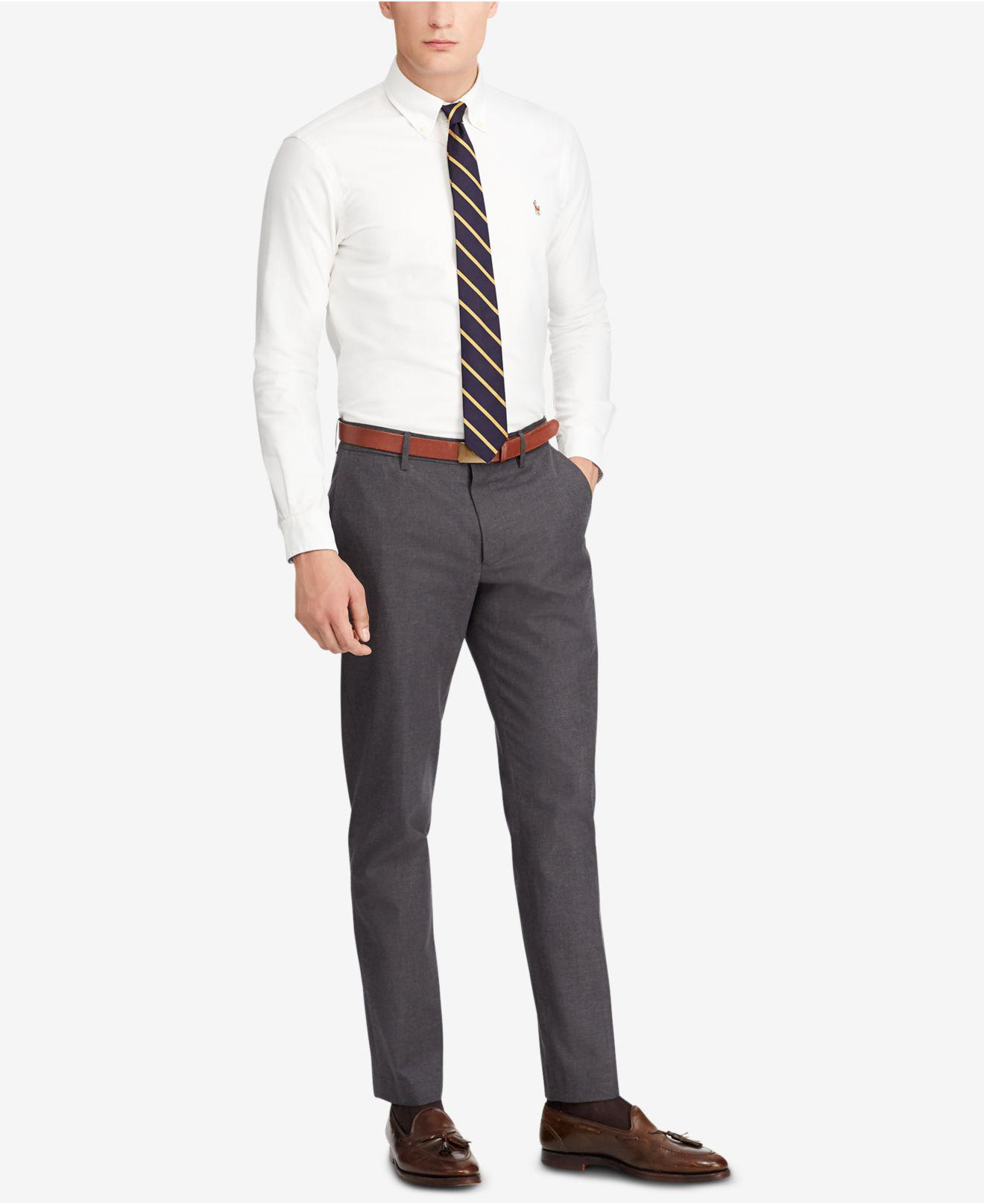 9d94e7d23fa475 Polo Ralph Lauren Stretch Straight Fit Chino Pants in Gray for Men ...