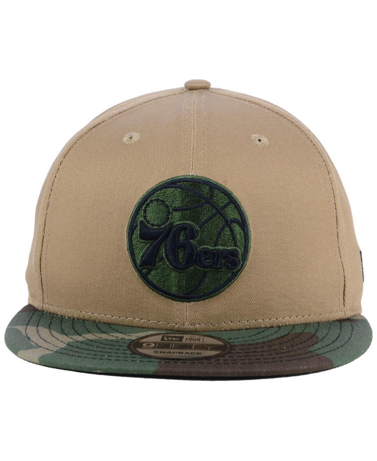 5ef7abdb9258a ... where can i buy lyst ktz philadelphia 76ers camo tipping 9fifty  snapback cap for men b979a