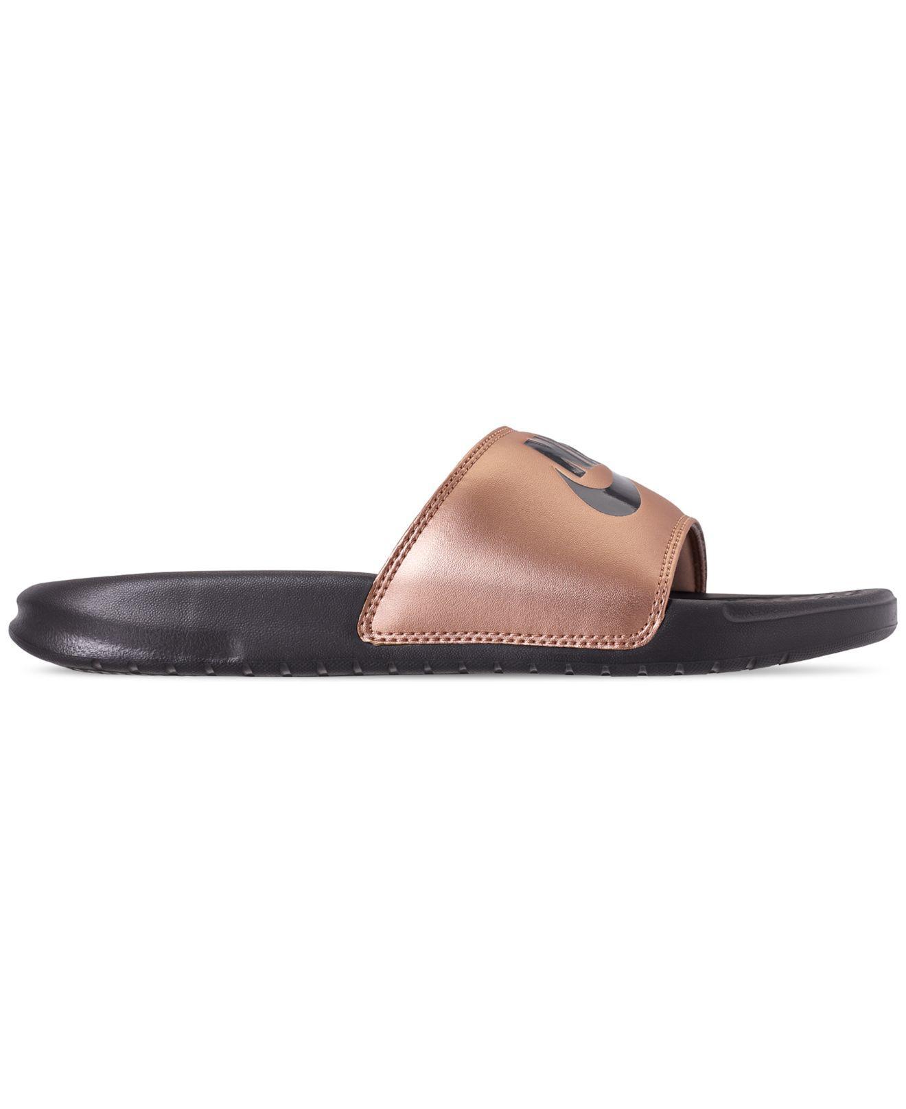 53c7839acf1ce Lyst - Nike Benassi Jdi Swoosh Slide Sandals From Finish Line - Save 14%
