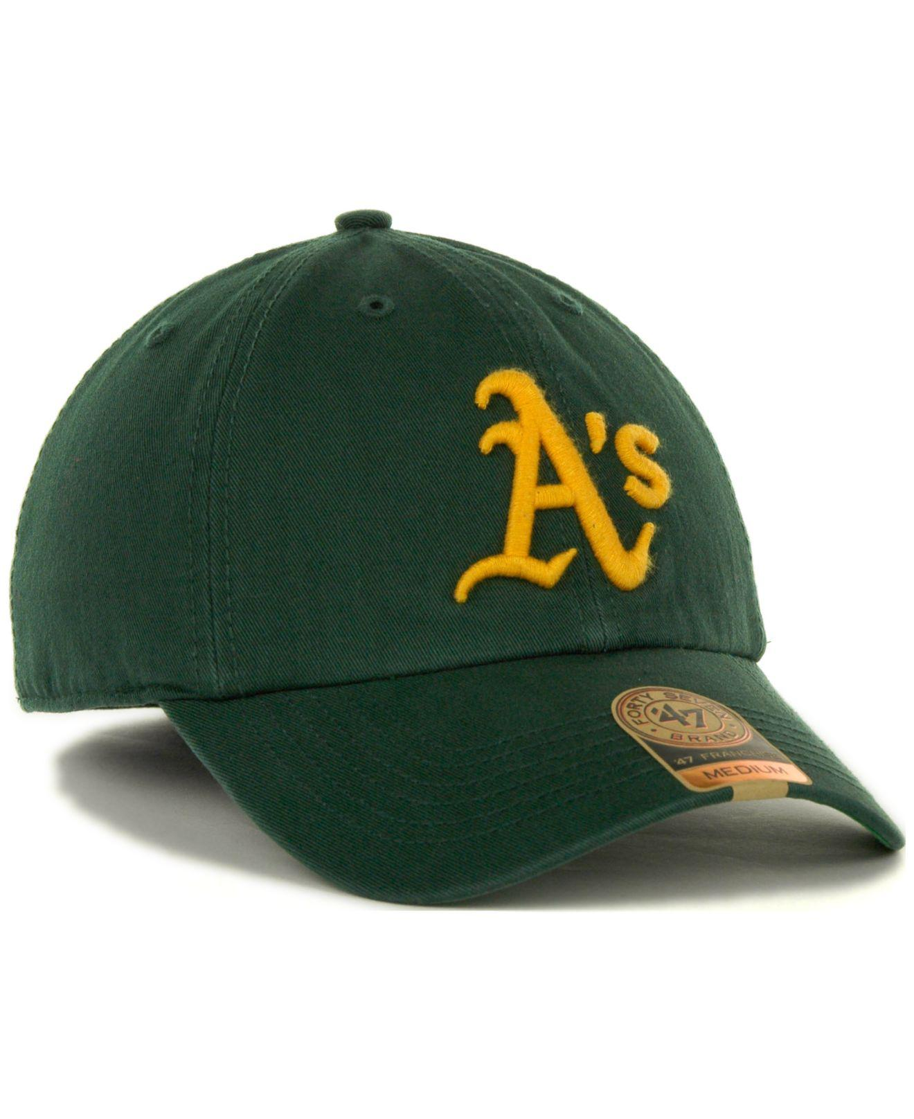 sports shoes a04aa 217c1 ... sweden lyst 47 brand oakland athletics franchise cap in green for men  b88db cf929