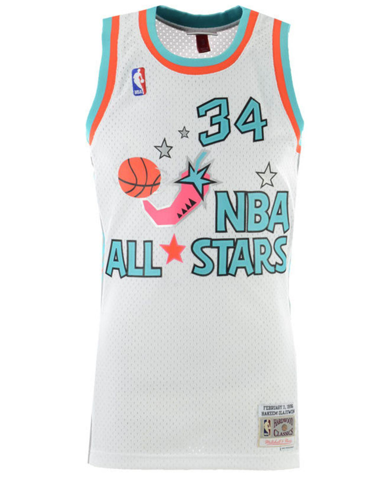 17c09ea3d54 Mitchell & Ness. Men's Blue Hakeem Olajuwon Nba All Star 1996 Swingman  Jersey