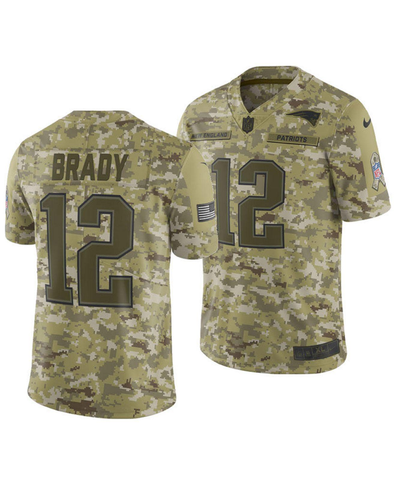 Nike. Men s Green Tom Brady New England Patriots Salute To Service Jersey  2018 f9927a4ea