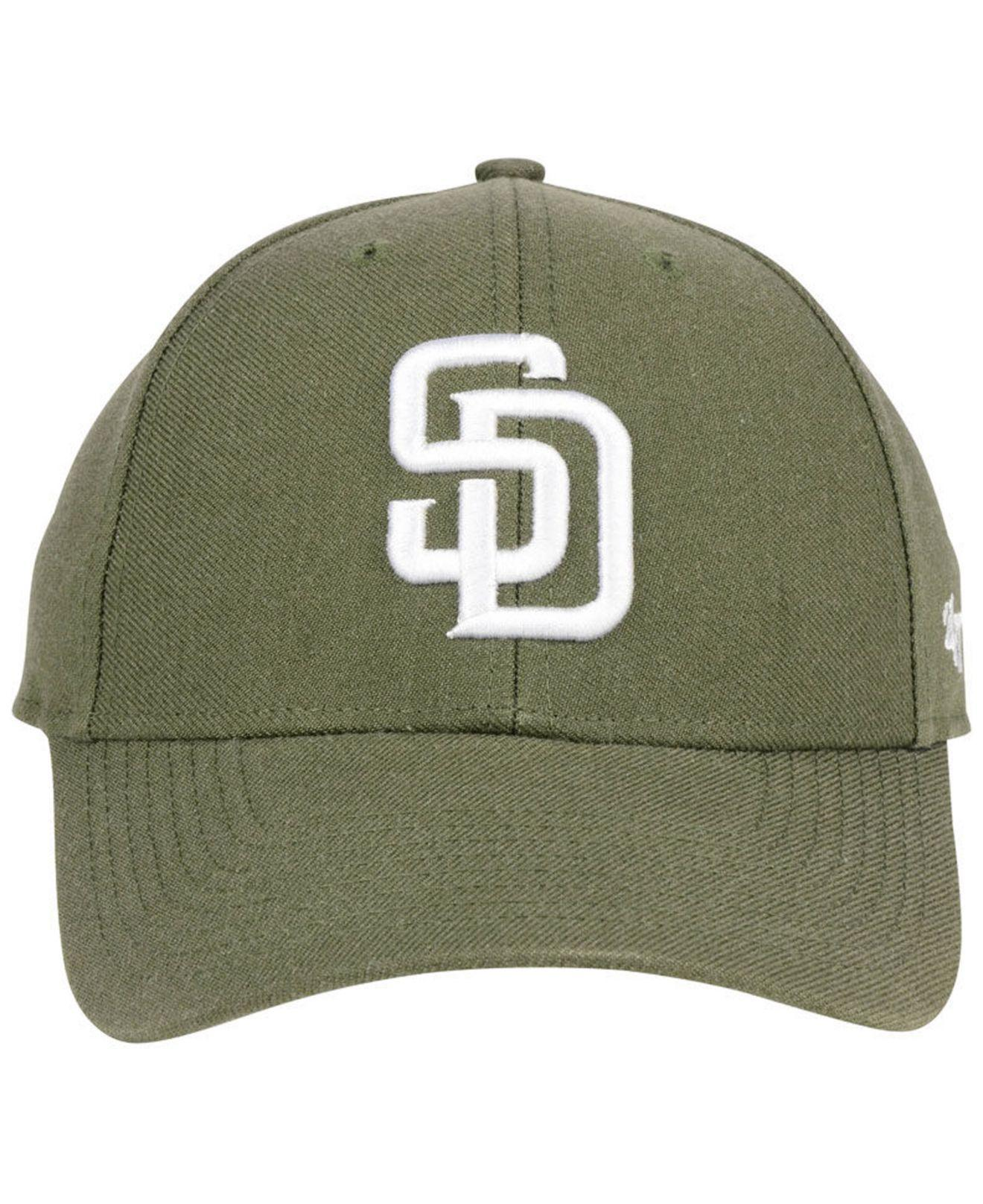 new styles b8514 1abb5 ... good lyst 47 brand san diego padres olive mvp cap in green for men  4e607 a24fb