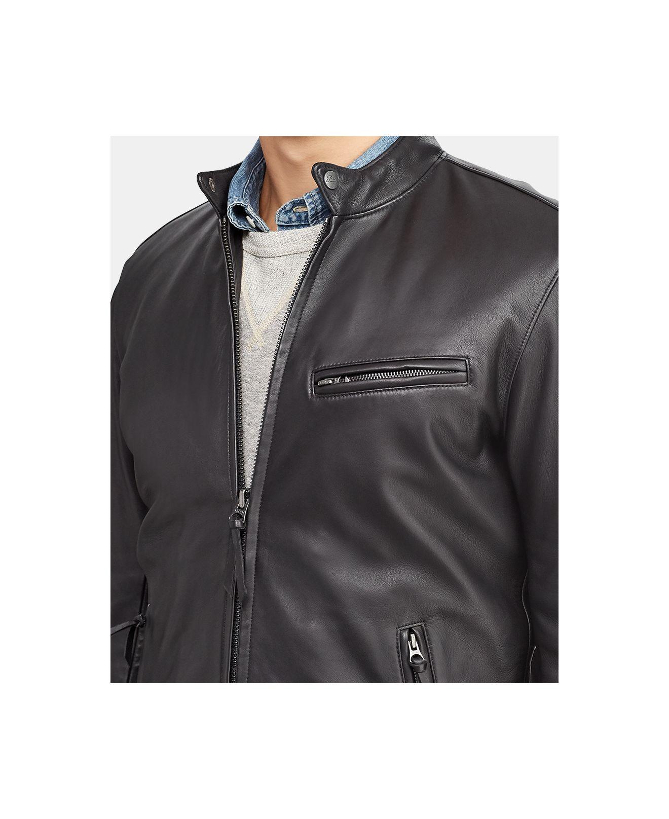 291b2bb3d13f Lyst - Polo Ralph Lauren Men s Cafe Racer Leather Jacket for Men