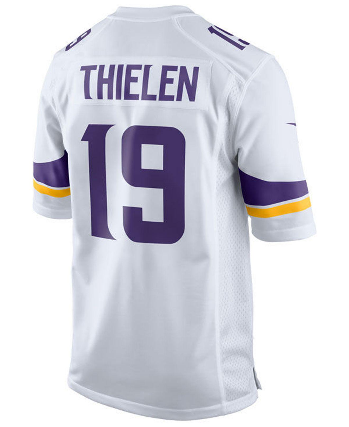 Lyst - Nike Adam Thielen Minnesota Vikings Game Jersey in White for Men 0773e8205