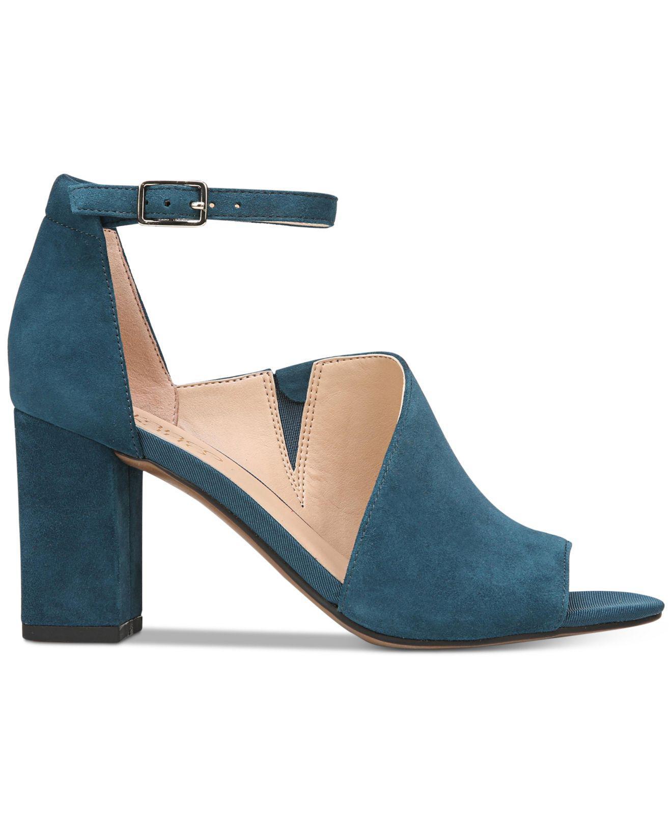 0bc26e4087 Franco Sarto Gayle Block-heel Dress Sandals in Blue - Lyst