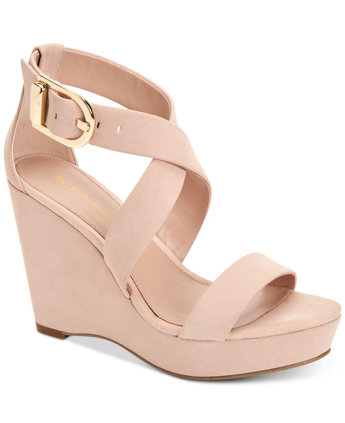 BCBGeneration Jae Platform Wedge Sandals Women's Shoes ioY9Z2UO