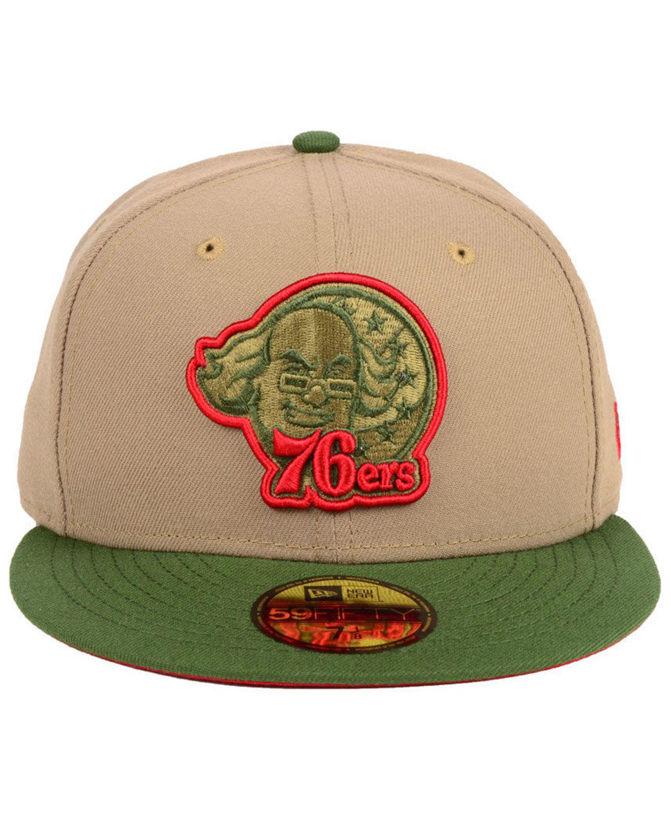 outlet store cd00e dc2c1 Lyst - KTZ Philadelphia 76ers Fall 2 Tone Combo 59fifty-fitted Cap in Green  for Men