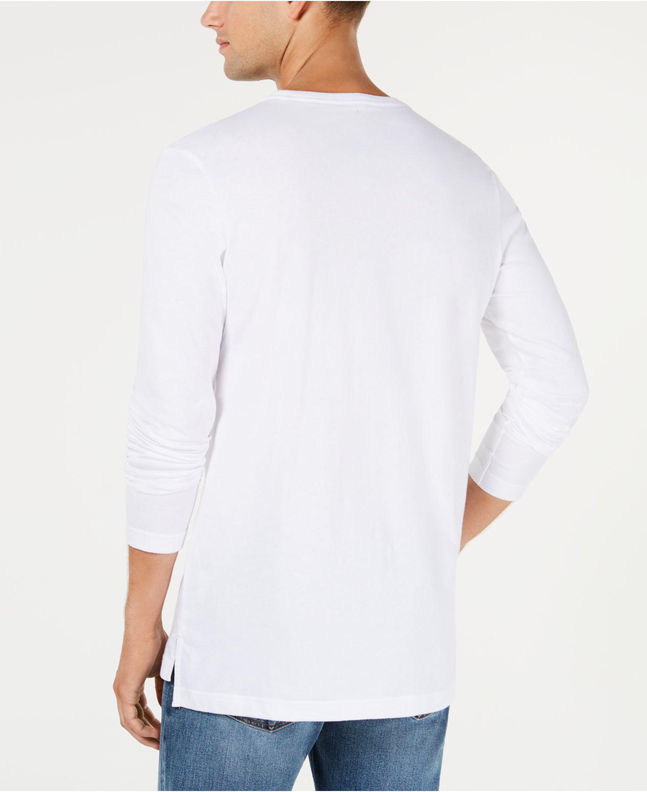 7e6cf86ddbb070 Lyst - Tommy Hilfiger Modern Essentials Logo-stripe T-shirt in White for Men