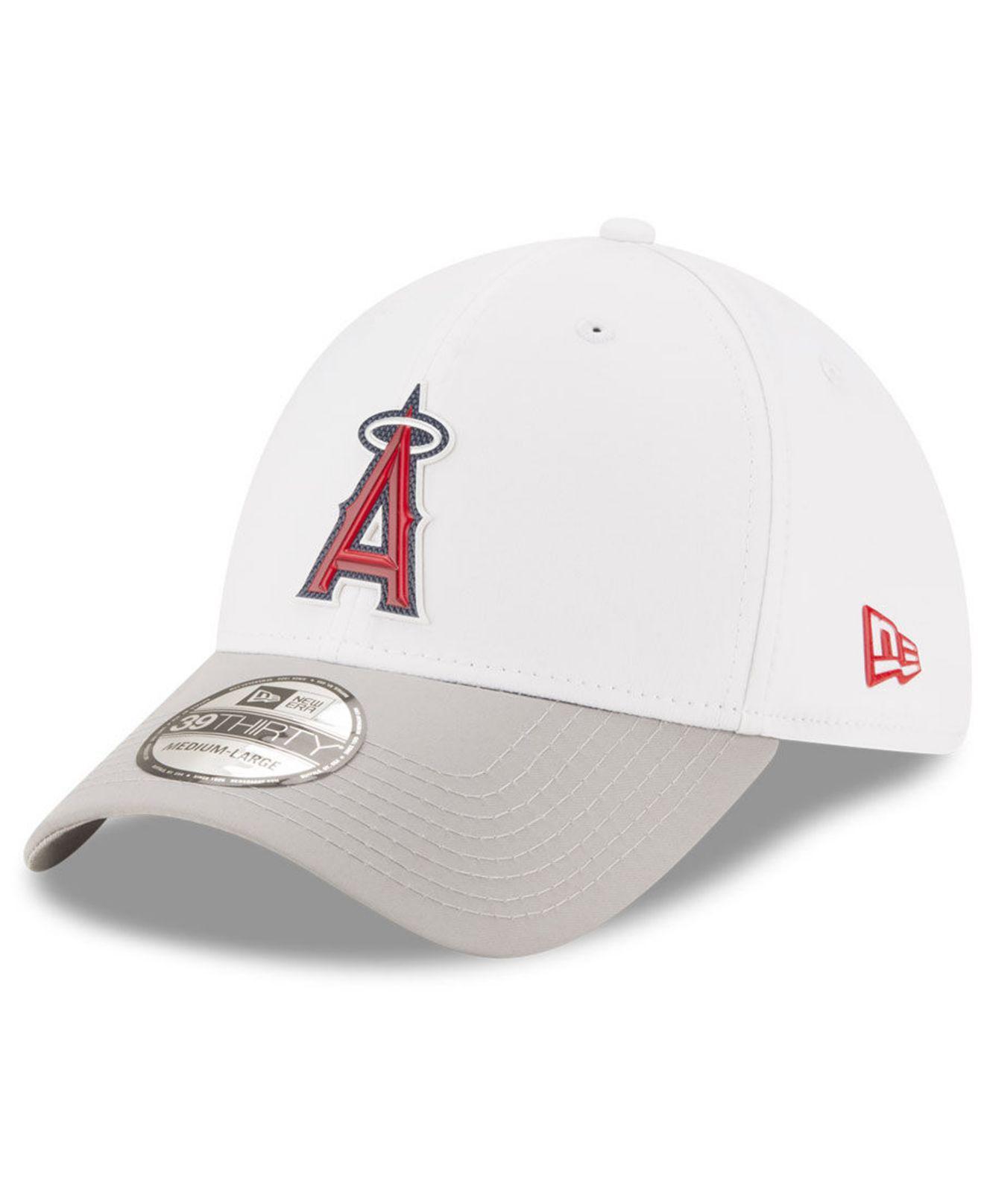 on sale 17076 57737 ... sale ktz los angeles angels white batting practice 39thirty cap for men  lyst. view fullscreen