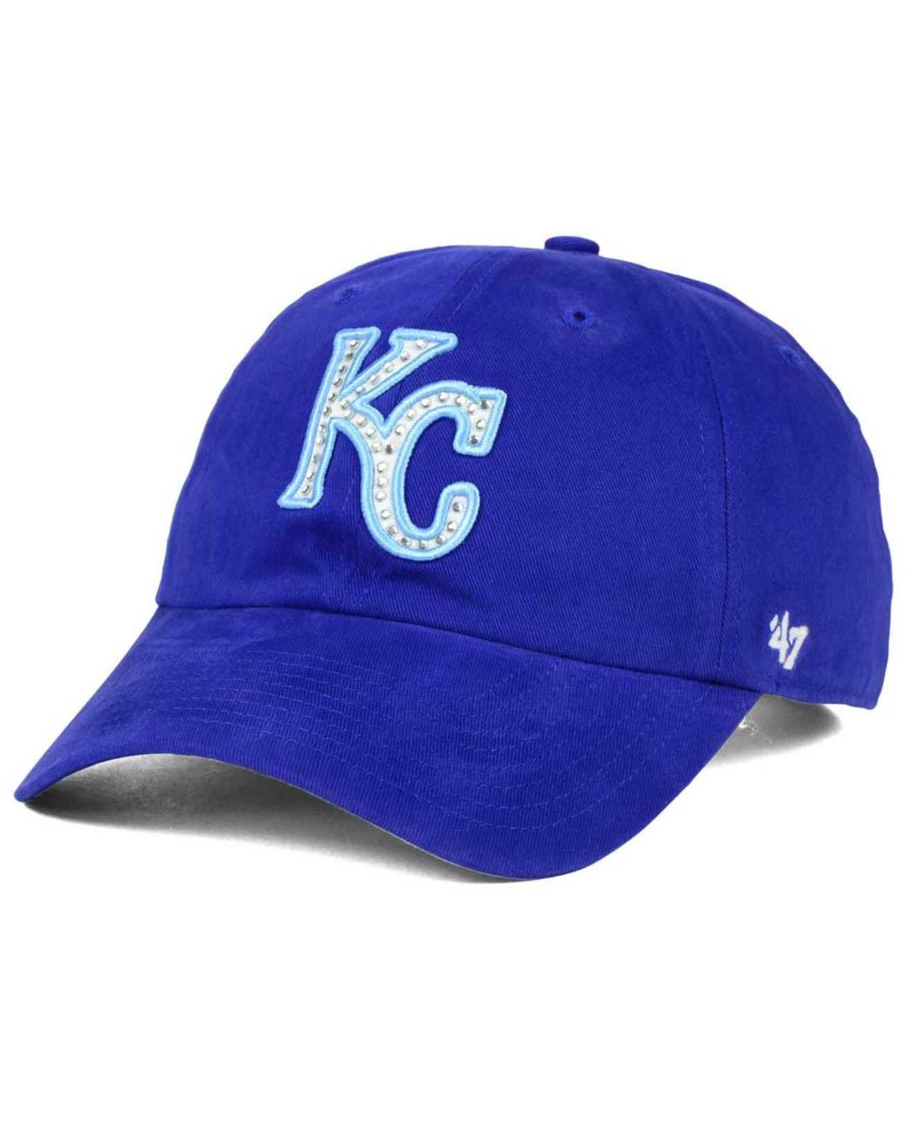 8d0158a268f Lyst - 47 Brand Kansas City Royals Gemstone Clean Up Cap in Blue for Men