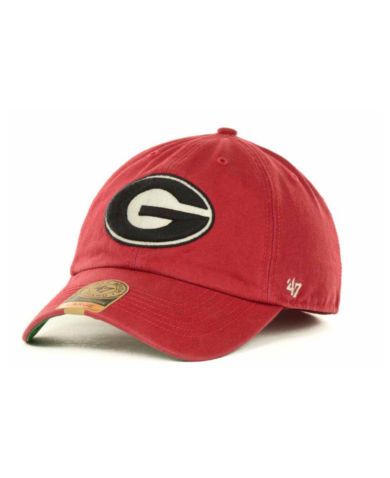 f4c4991556b Lyst - 47 Brand Georgia Bulldogs Franchise Cap in Red for Men