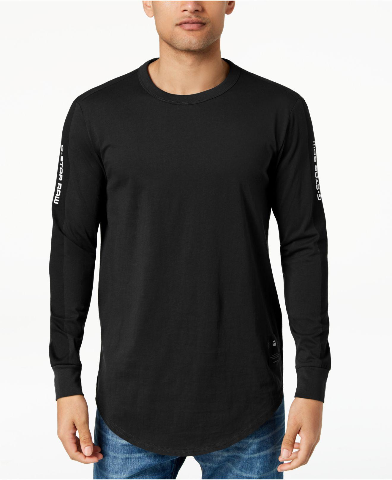 5b3144b1b6f G-Star RAW Swando Stripe Logo Long Sleeve T-shirt, Created For ...