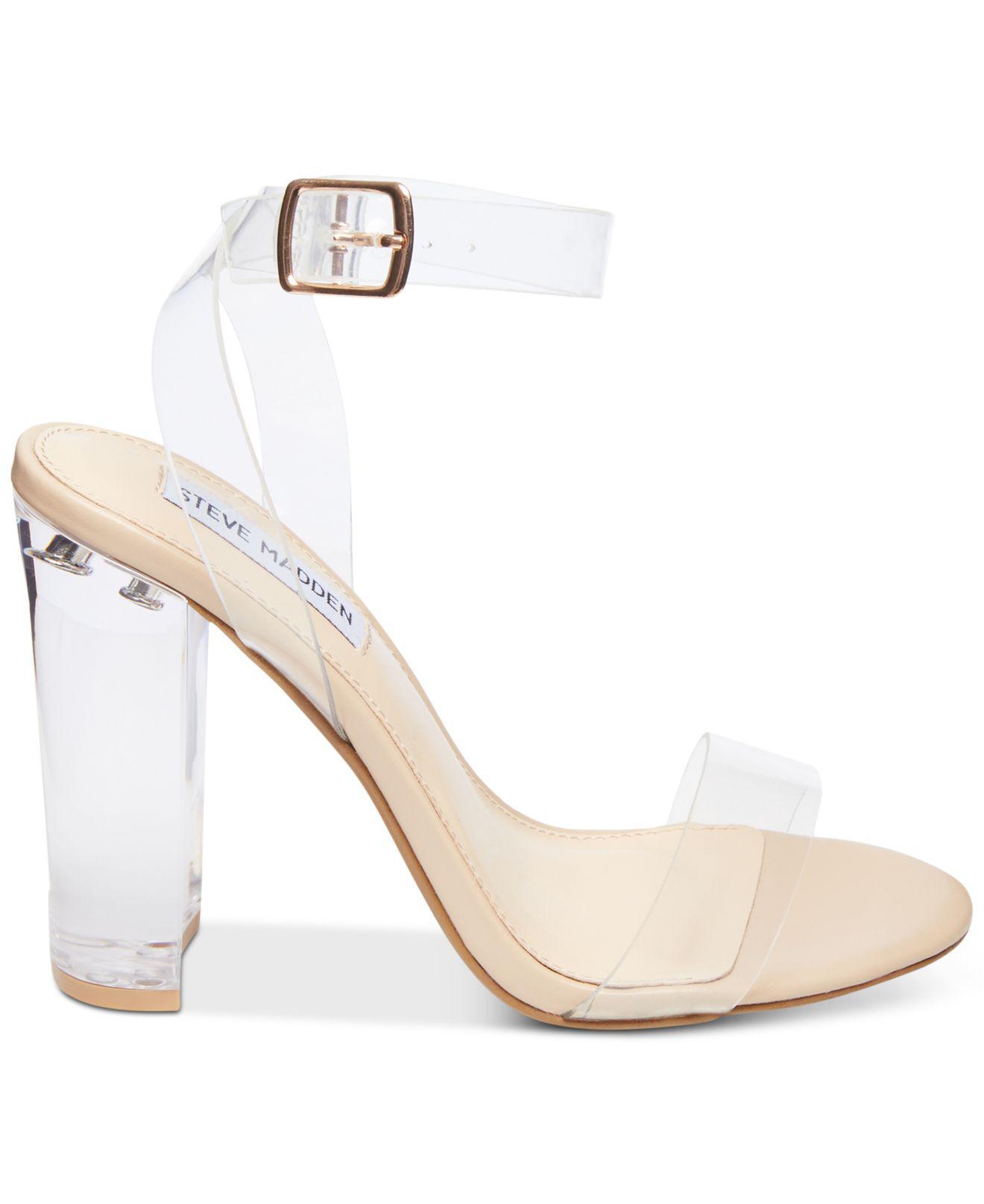 b86304788c22a Lyst - Steve Madden Camille Lucite Dress Sandals