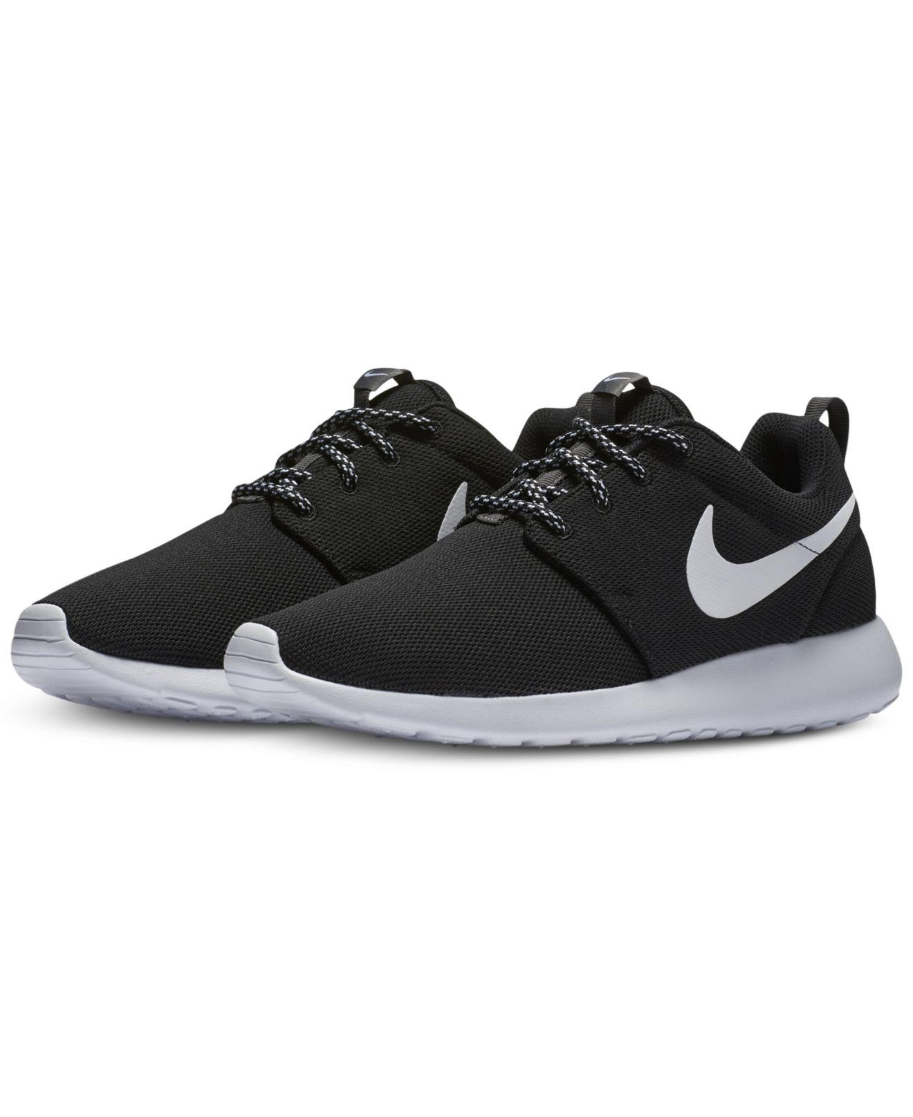 79ba9888b218 Lyst - Nike Women s Roshe One Casual Sneakers From Finish Line in Black -  Save 1.3333333333333286%
