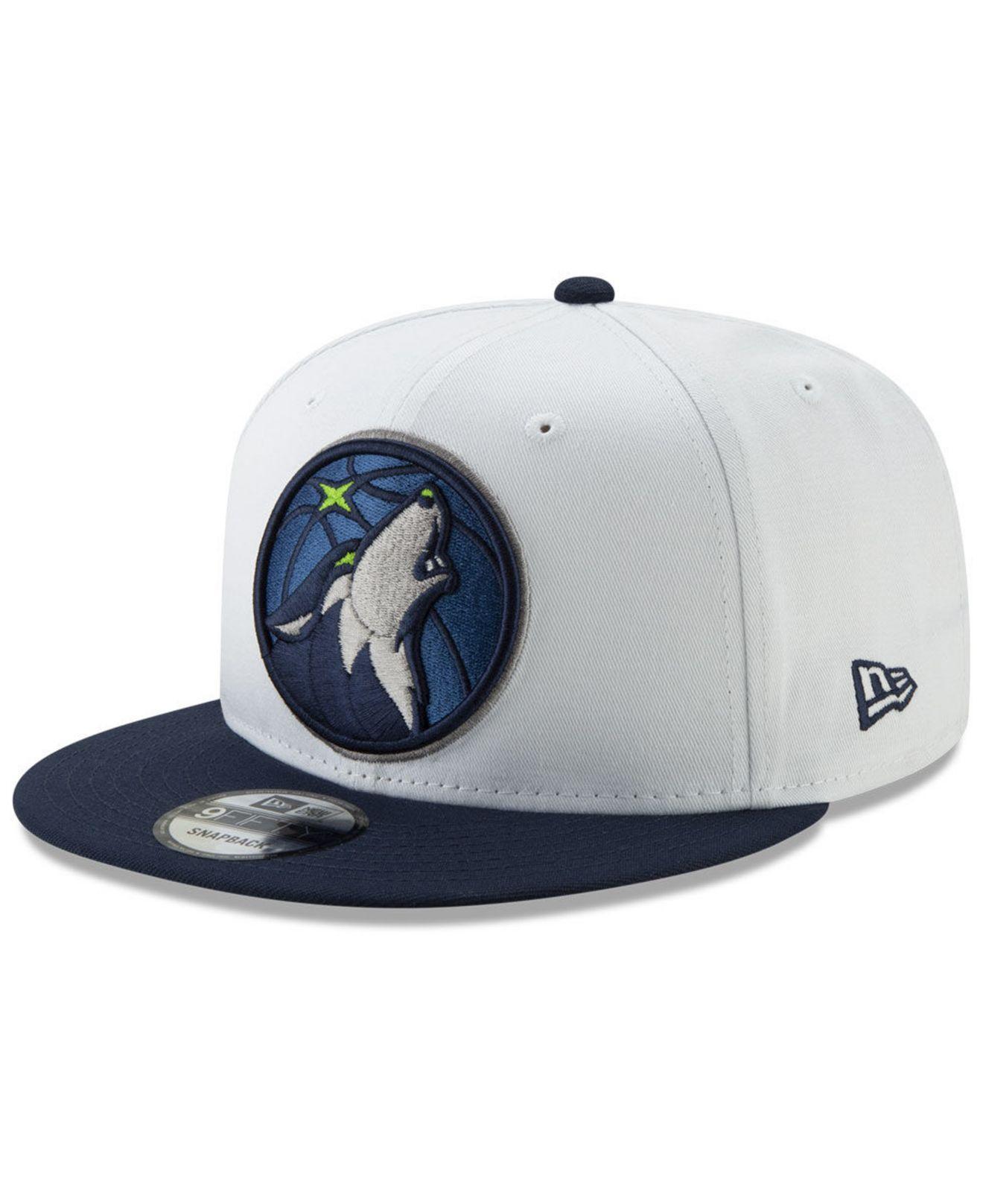 cheap for discount 284d3 0d67a KTZ - Minnesota Timberwolves White Xlt 9fifty Cap for Men - Lyst. View  fullscreen