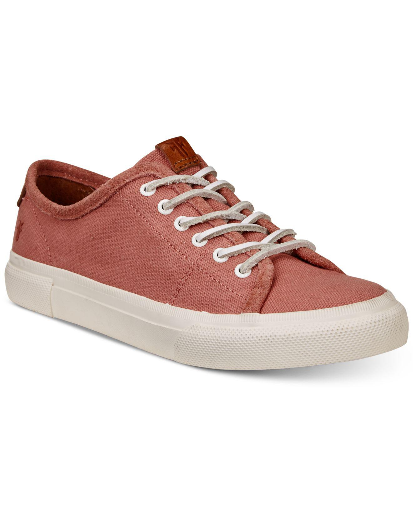 Frye Gia Canvas Lace Sneakers Women's Shoes