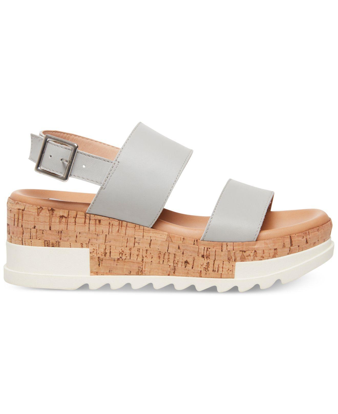 281d4e00154 Lyst - Steve Madden Brenda Flatform Sport Sandals in Gray