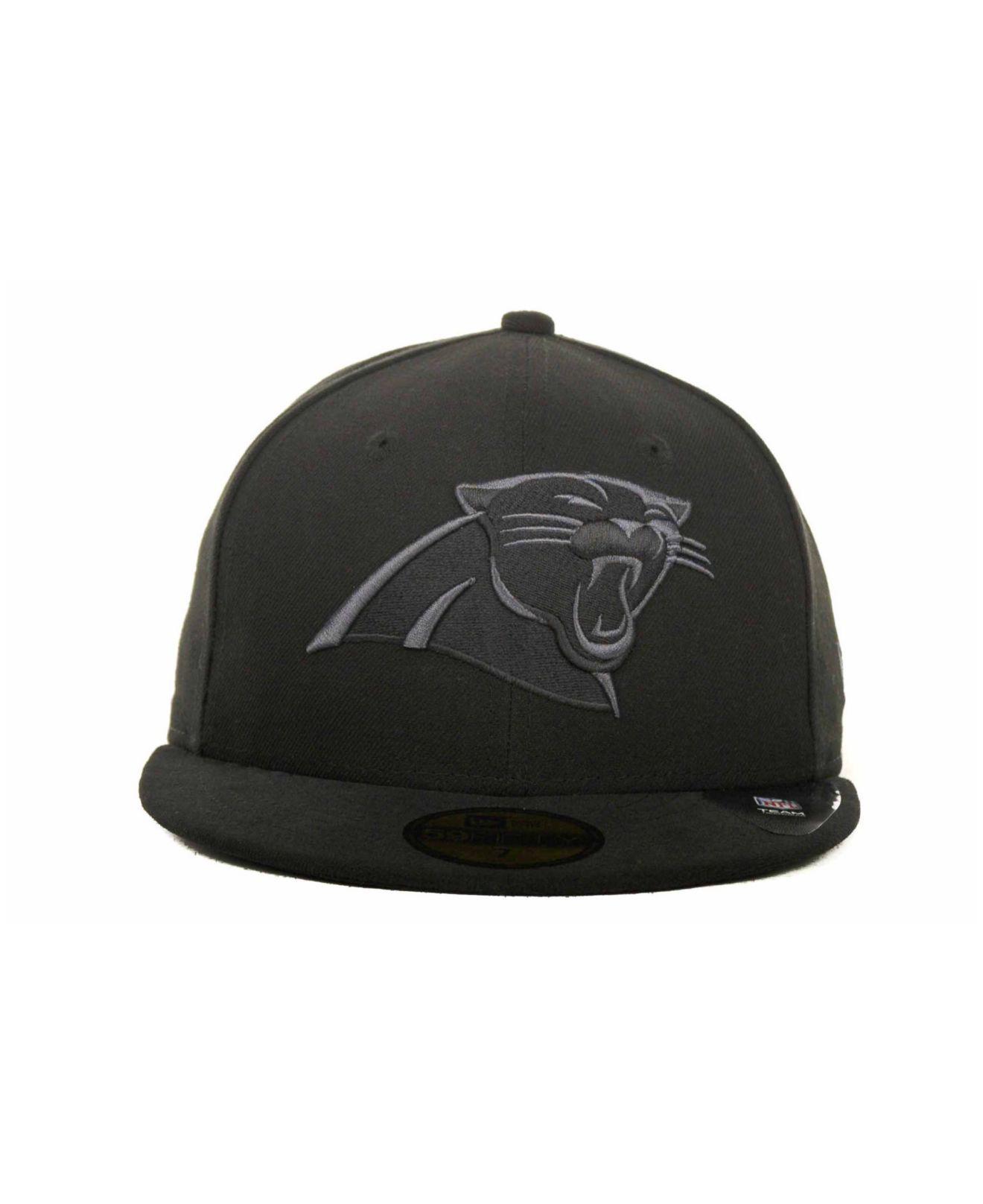 799529cbb1c Lyst - KTZ Carolina Panthers Black Gray 59fifty Hat in Black for Men