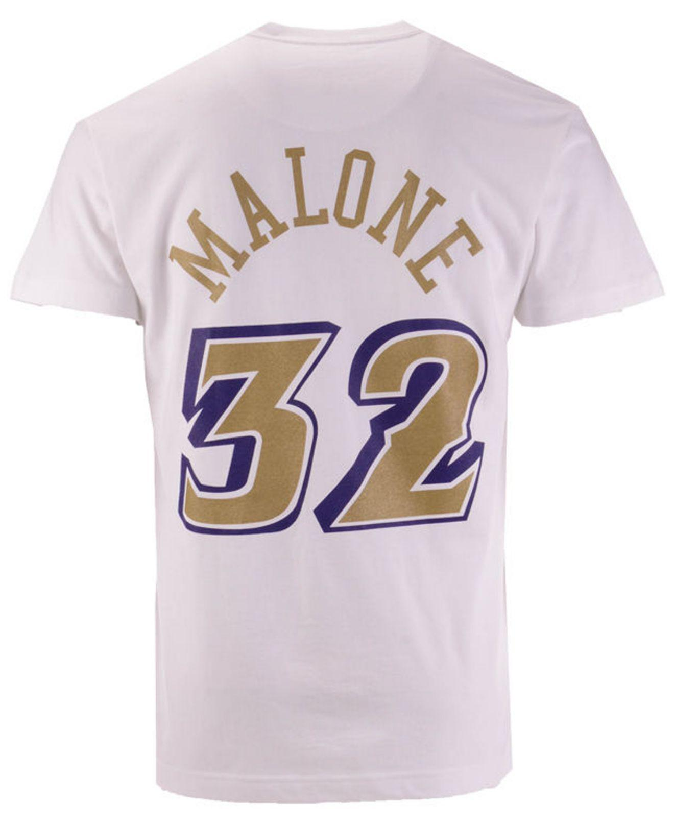 290129af6 Lyst - Mitchell   Ness Karl Malone Utah Jazz Gold Collection Name ...
