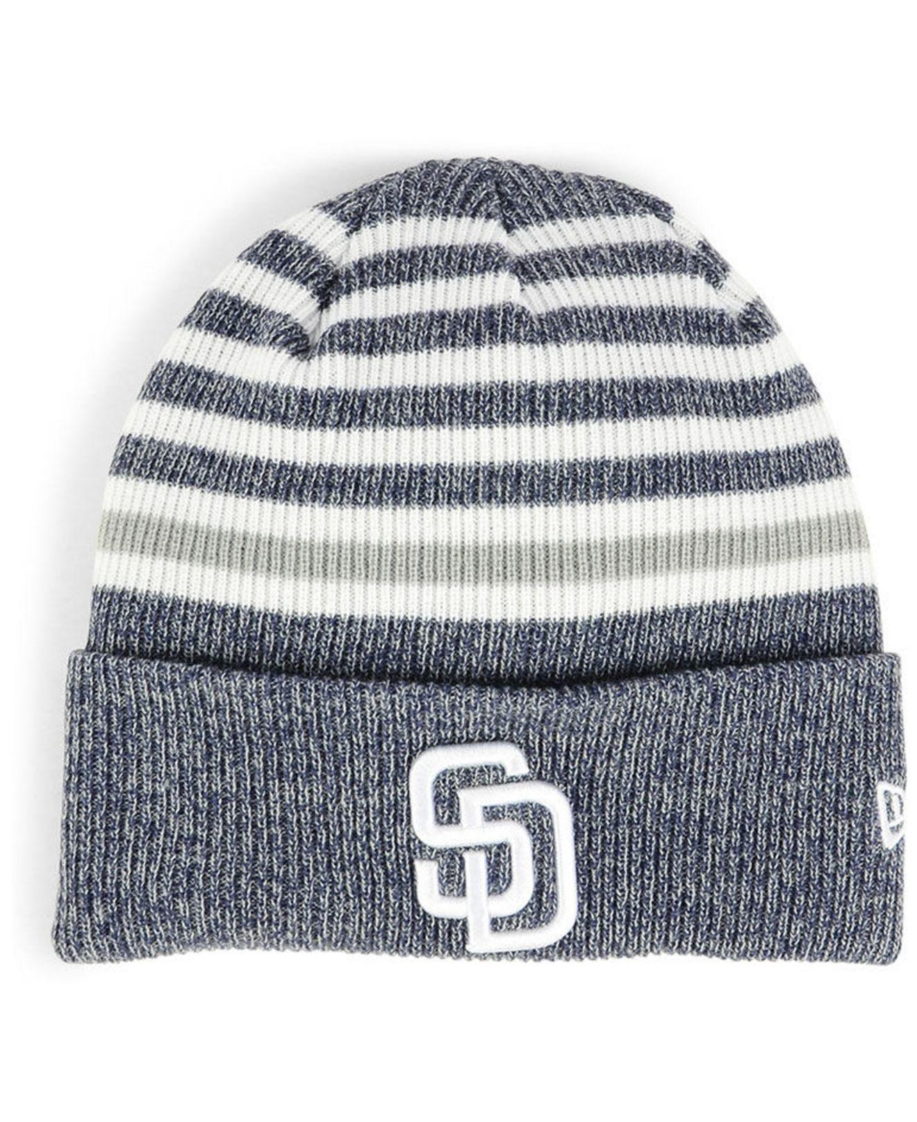official photos 2a4e0 ffbcf Lyst - KTZ San Diego Padres Striped Cuff Knit Hat