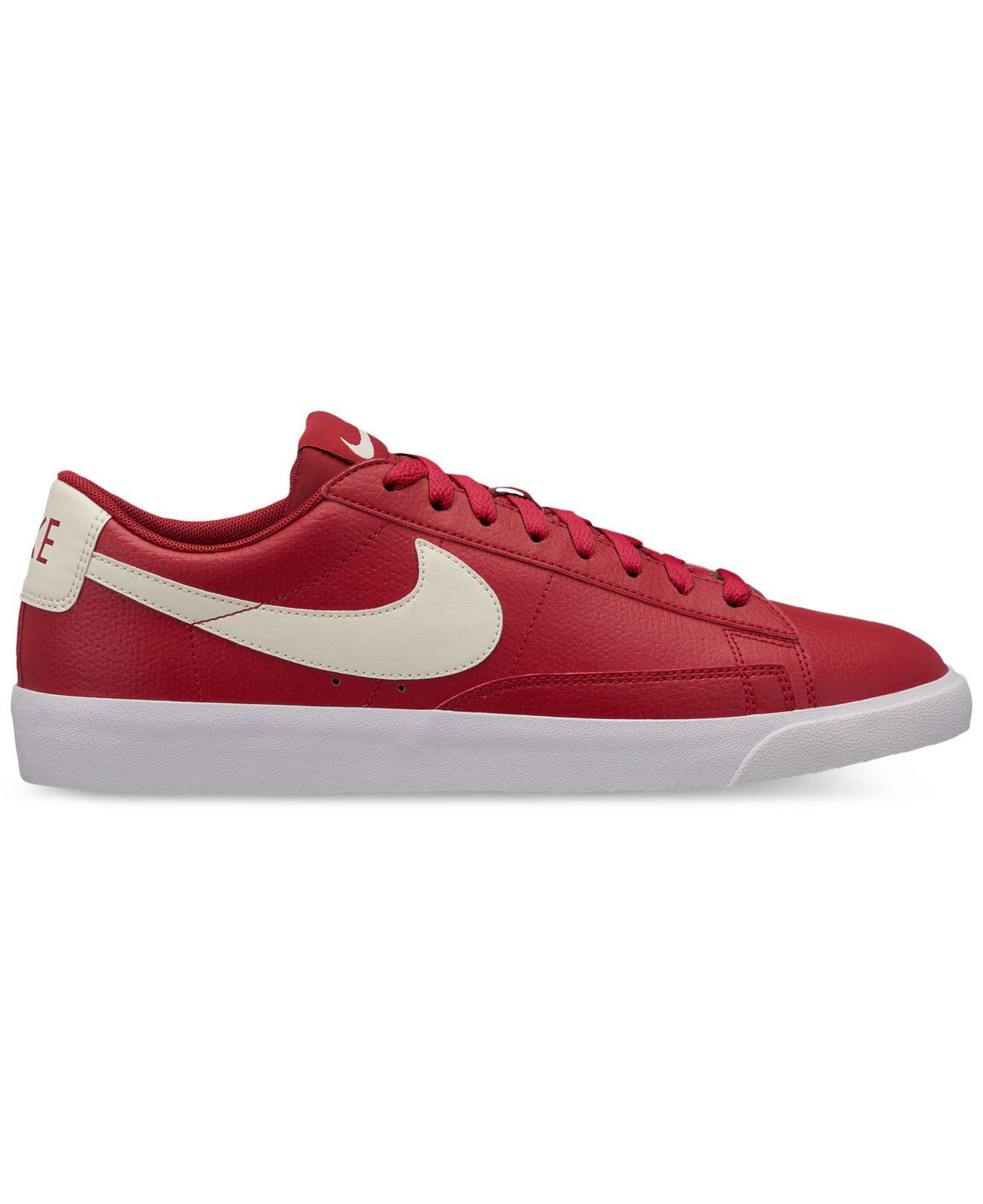 Nike. Men's Blazer Low Leather Casual Sneakers From Finish Line