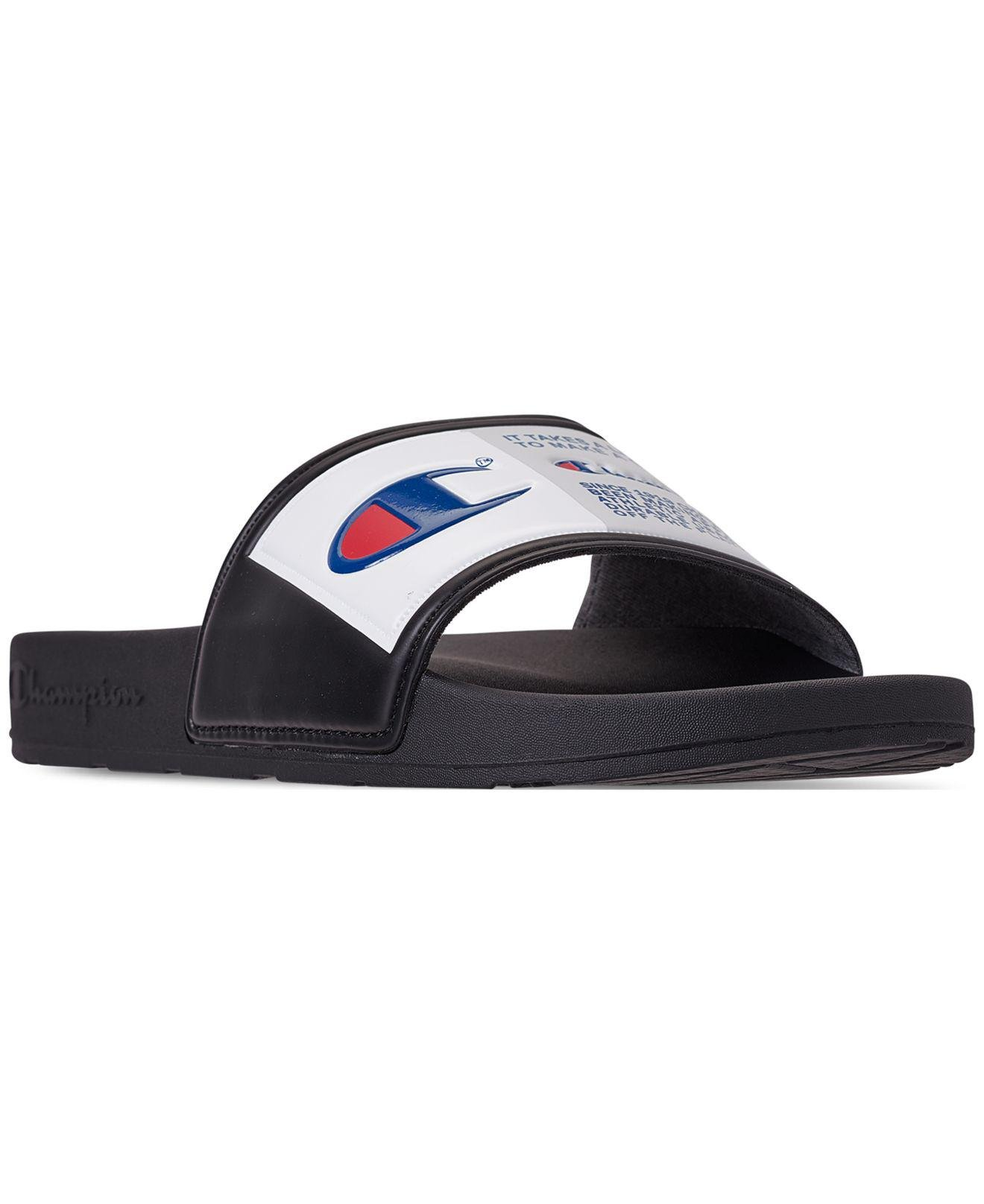 fb1f637f275b09 Lyst - Champion Ipo Jock Slide Sandals From Finish Line in Black for Men