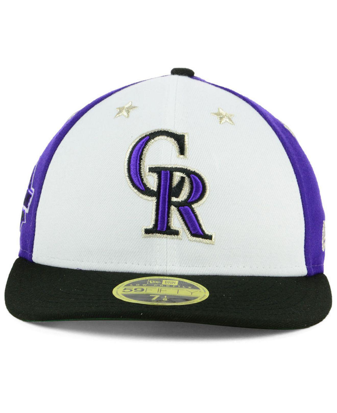 605ae74b51770 best price lyst ktz colorado rockies all star game patch low profile  59fifty fitted cap 2018