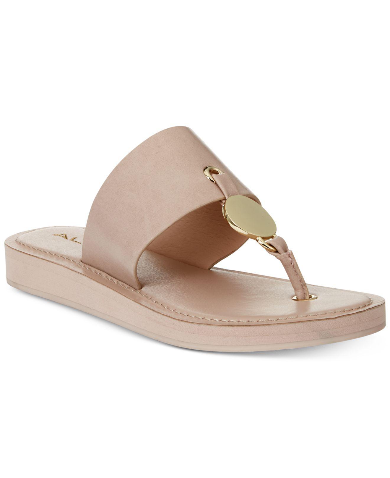 2bddc82ef1b Lyst - ALDO Yilania Coin Slide Sandals