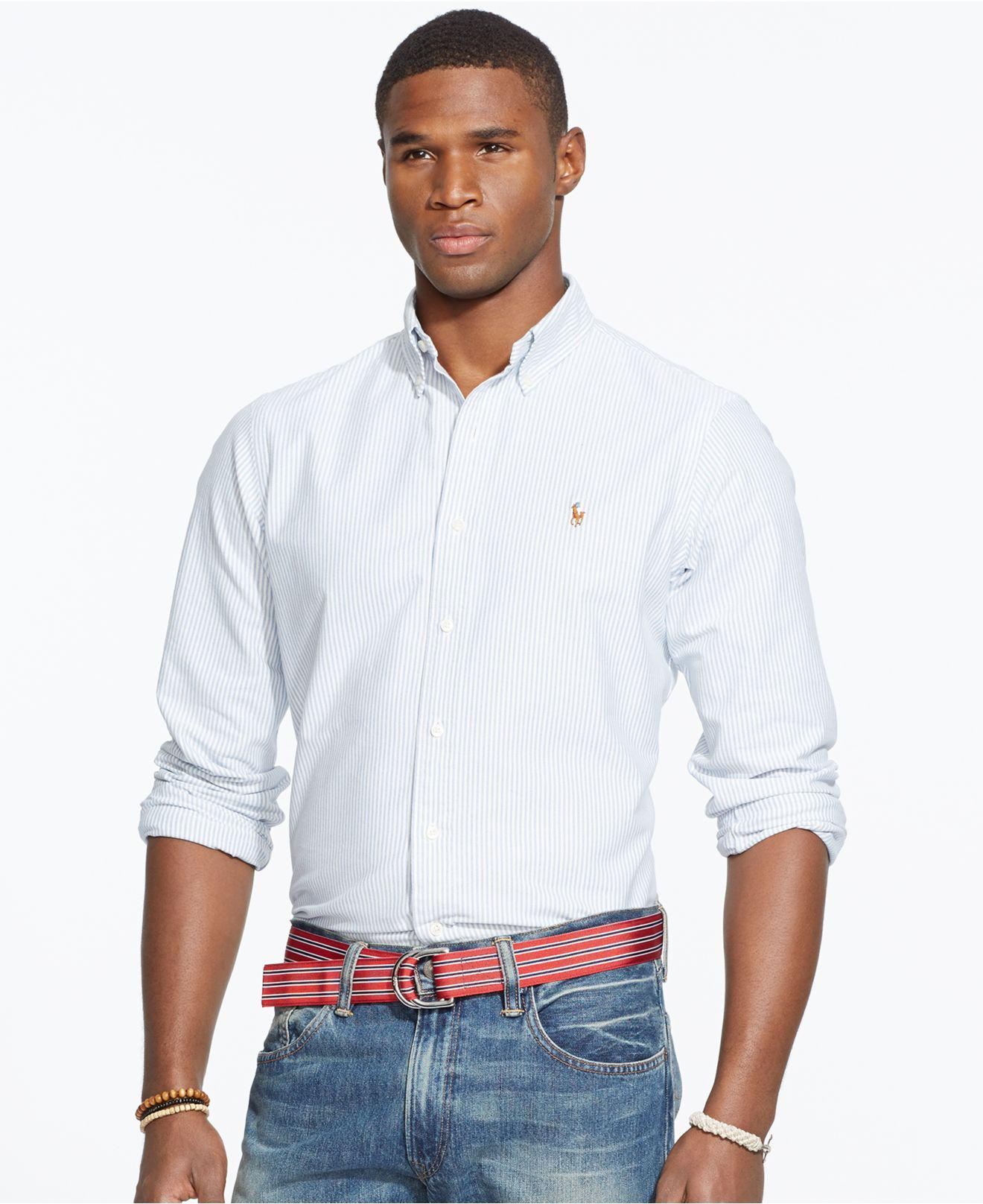 35a679f113 Lyst - Polo Ralph Lauren Multi-striped Oxford Shirt in White for Men