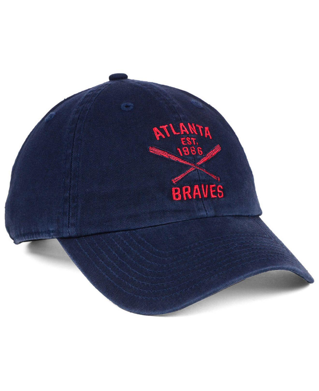 new concept 90705 1e3e1 ... wholesale lyst 47 brand atlanta braves axis clean up cap in blue for  men 085c0 ad326