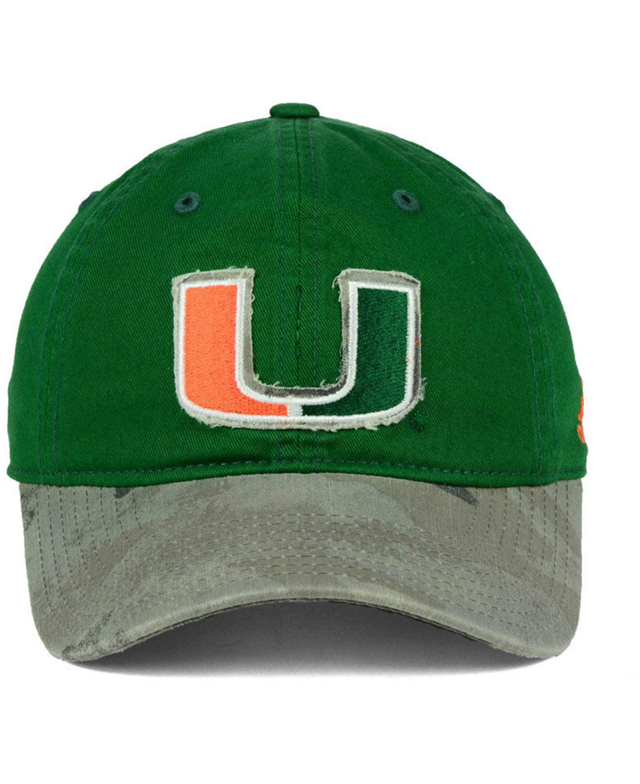 separation shoes 1f1f8 3091b ... new style lyst adidas miami hurricanes camo code slouch cap in green  for men eac6f 57fa5