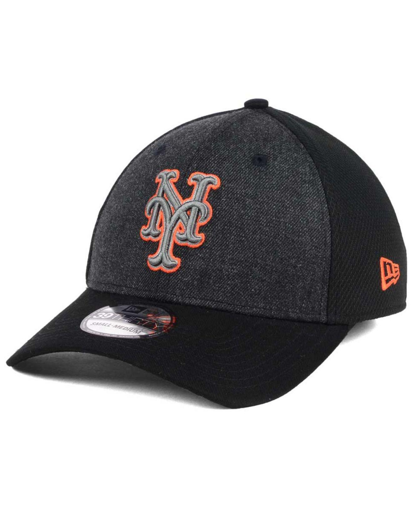 d225cdfaaca ... spain ktz new york mets black heathered 39thirty cap for men lyst. view  fullscreen aa0ba