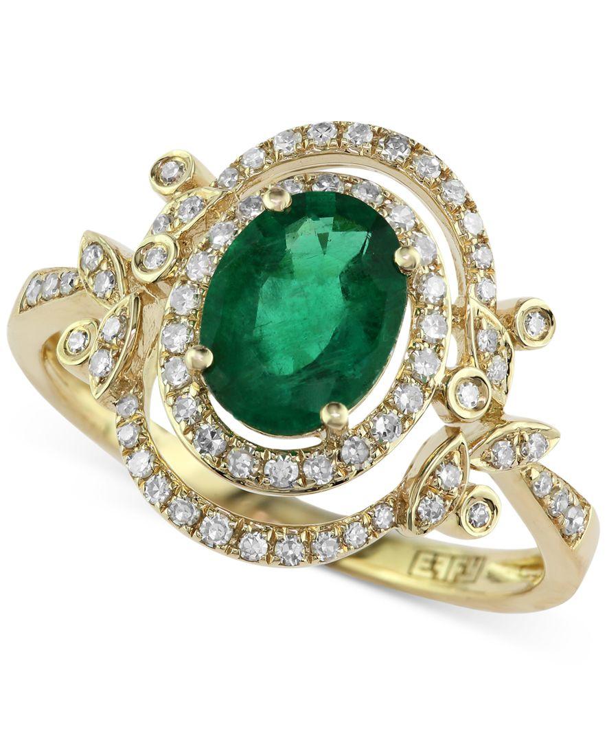 effy collection brasilica by effy emerald 1 1 8 ct t w