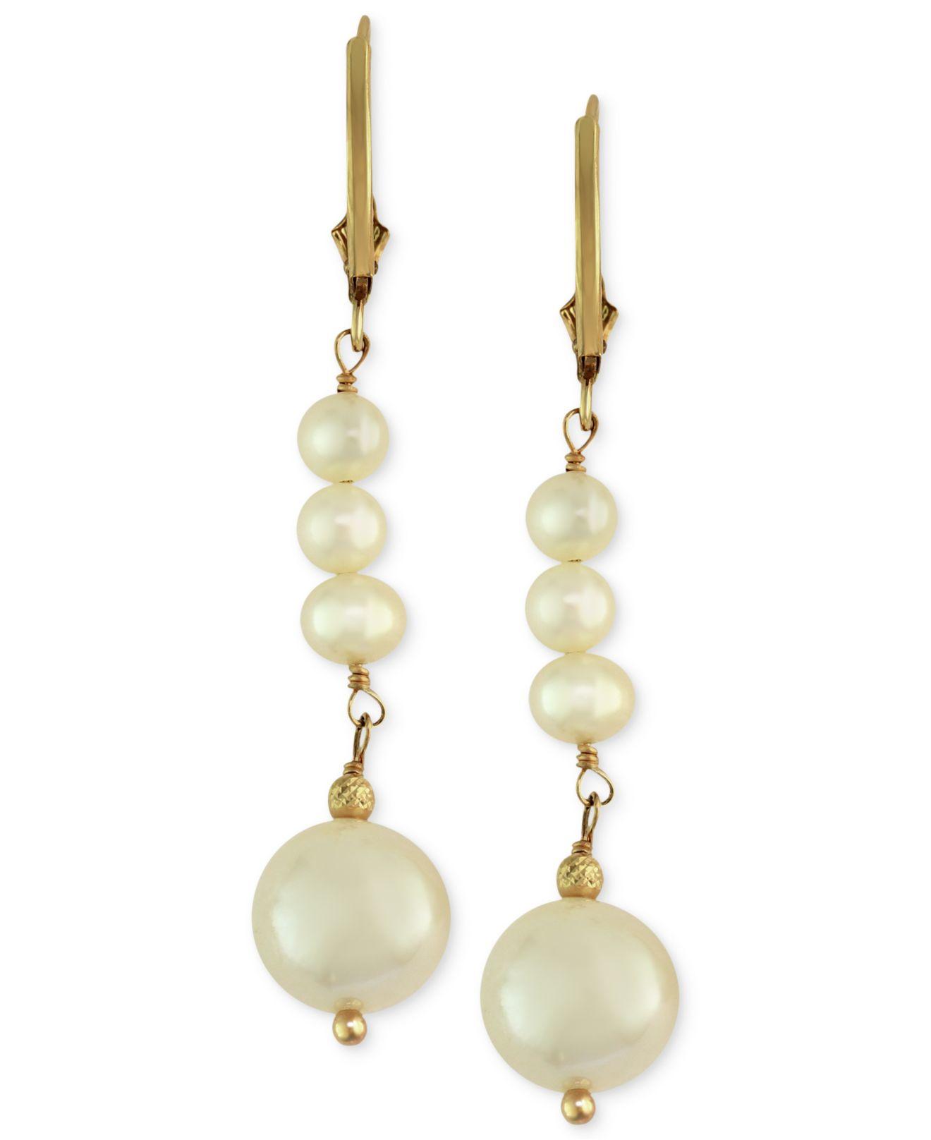 Effy Collection Women's Metallic Cultured Freshwater Pearl Earrings
