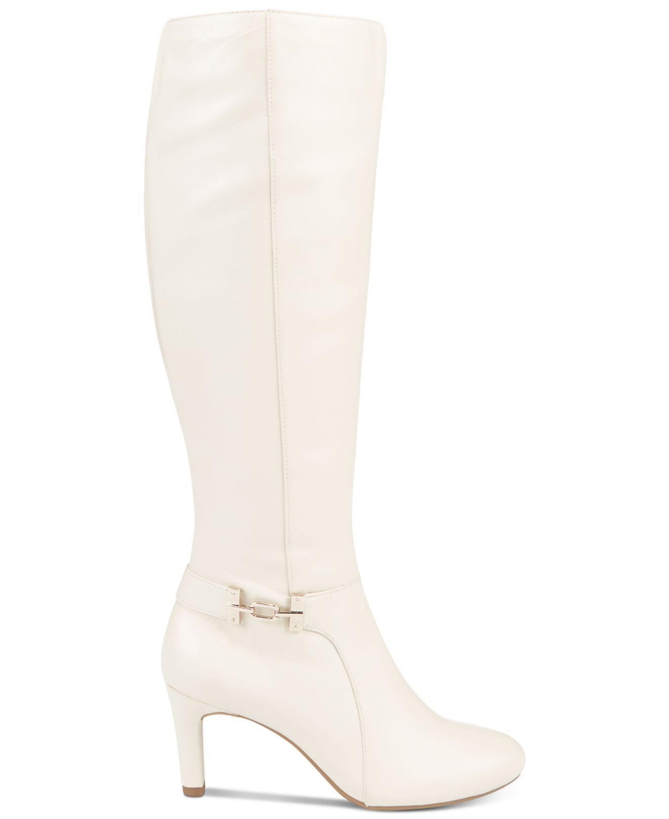 16d5ef687ca Lyst - Bandolino Lamari Wide-calf Dress Boots in White