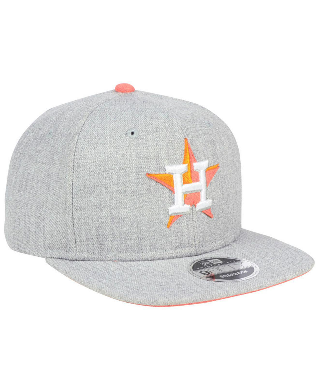a1adf2195a5 ... new arrivals lyst ktz houston astros heather hype 9fifty snapback cap  in gray 8eb26 f81ca