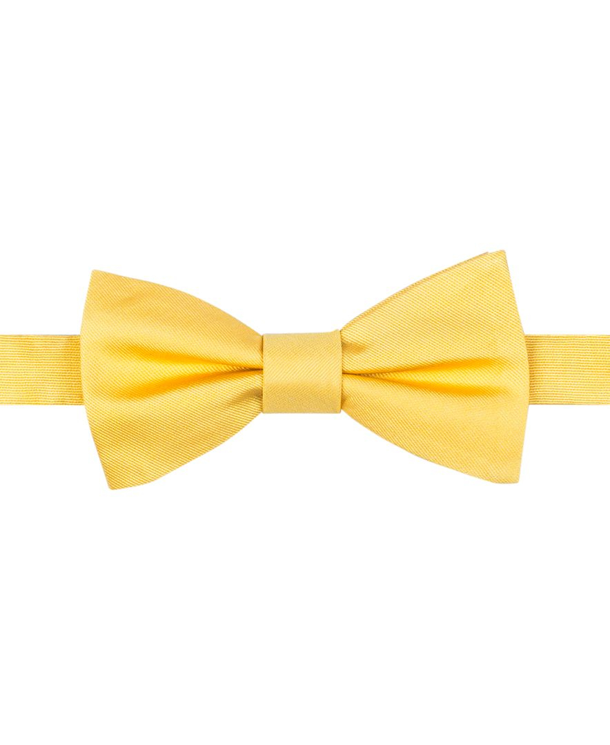 Tommy Hilfiger To Tie Solid Bow Tie In Yellow For Men Lyst