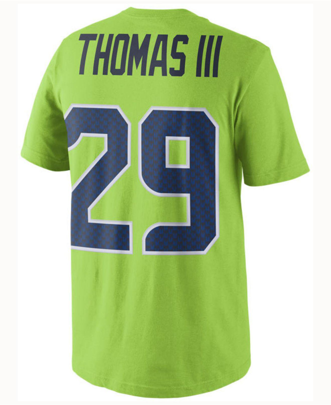 0acf1931c Nike. Green Men s Earl Thomas Iii Seattle Seahawks Color Rush Name   Number  T-shirt
