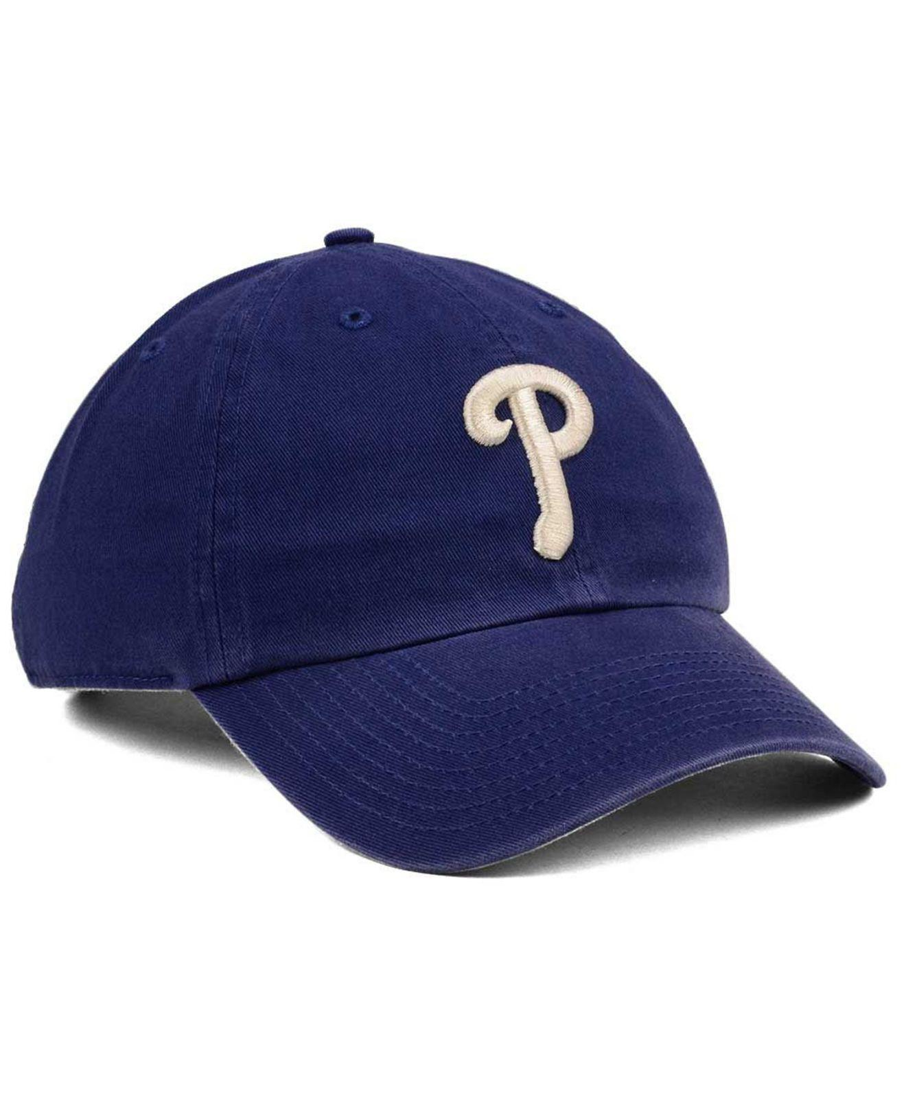 3a115aecd65 Lyst - 47 Brand Philadelphia Phillies Timber Blue Clean Up Cap in ...