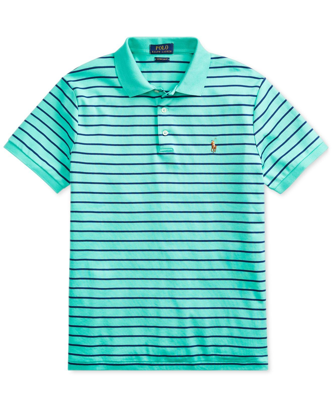 a6aa0a9c Lyst - Polo Ralph Lauren Custom Slim Fit Polo, Created For Macy's in Green  for Men