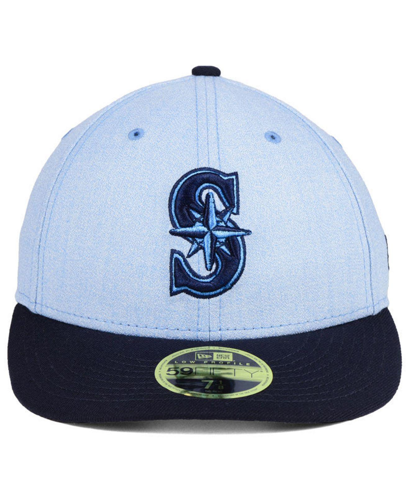 sale retailer 57df9 7f76e ... top quality lyst ktz seattle mariners fathers day low profile 59fifty  cap in blue for men