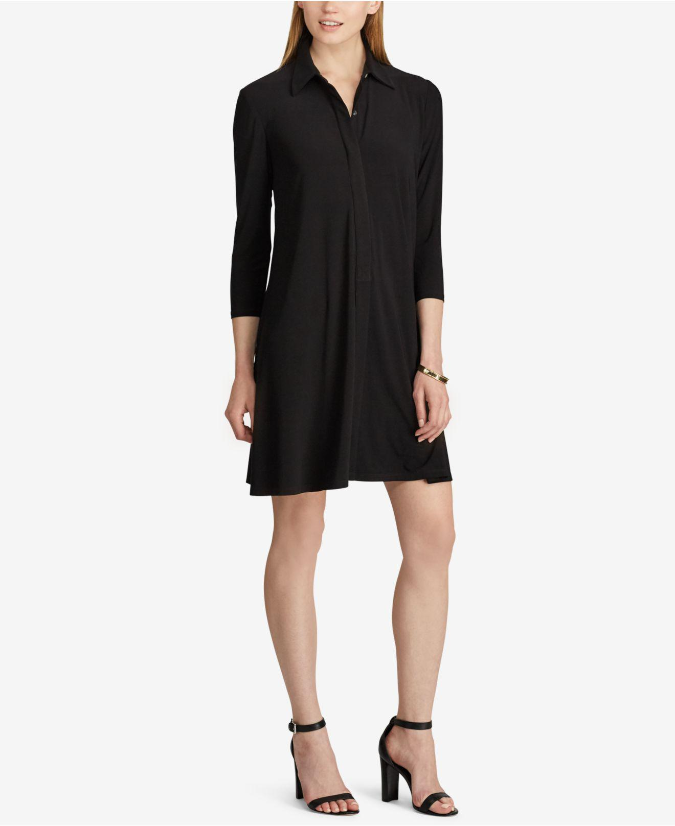 Lyst American Living Jersey A Line Shirtdress In Black