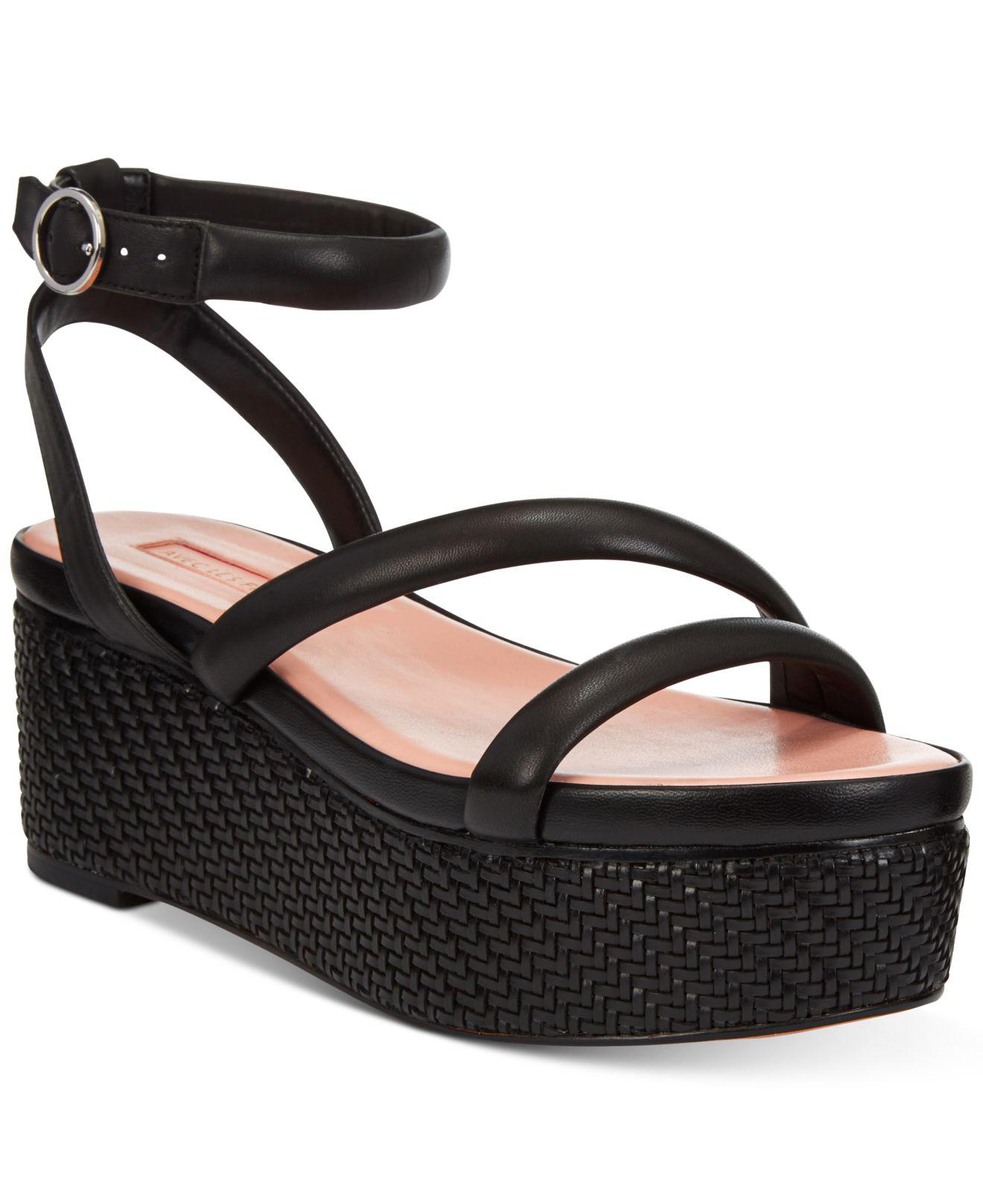 8b2028da09c5 Lyst - Avec Les Filles Ava Flatform Sandals in Black