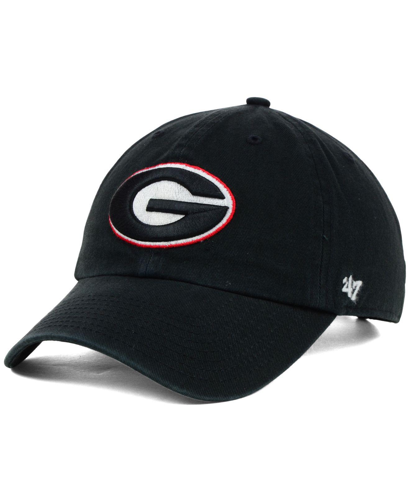 846503f0f61 Lyst - 47 Brand Georgia Bulldogs Ncaa Clean-up Cap in Black for Men