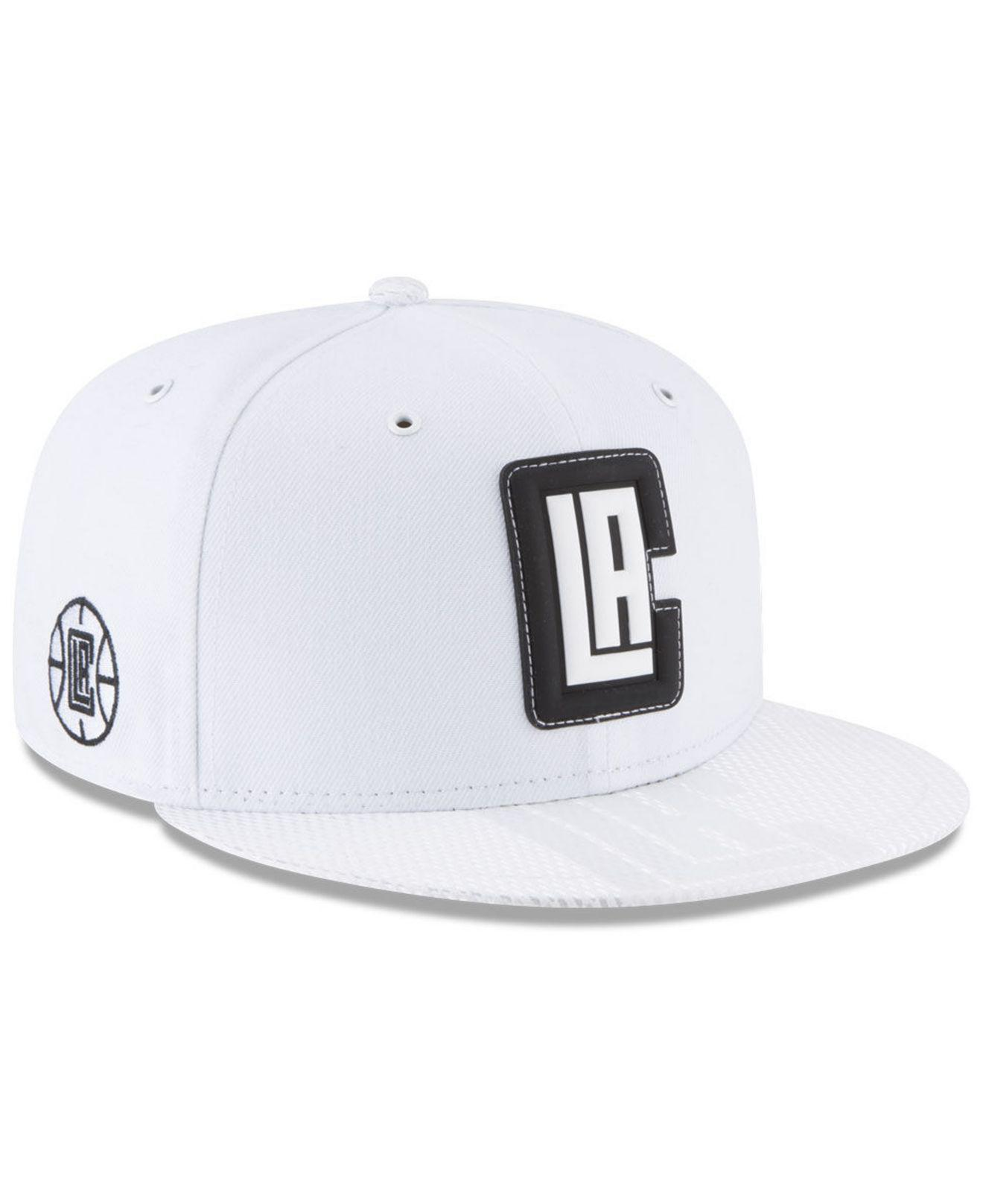 00ad3c80372ae KTZ. Men s White Los Angeles Clippers Back 1 2 Series 9fifty Snapback Cap