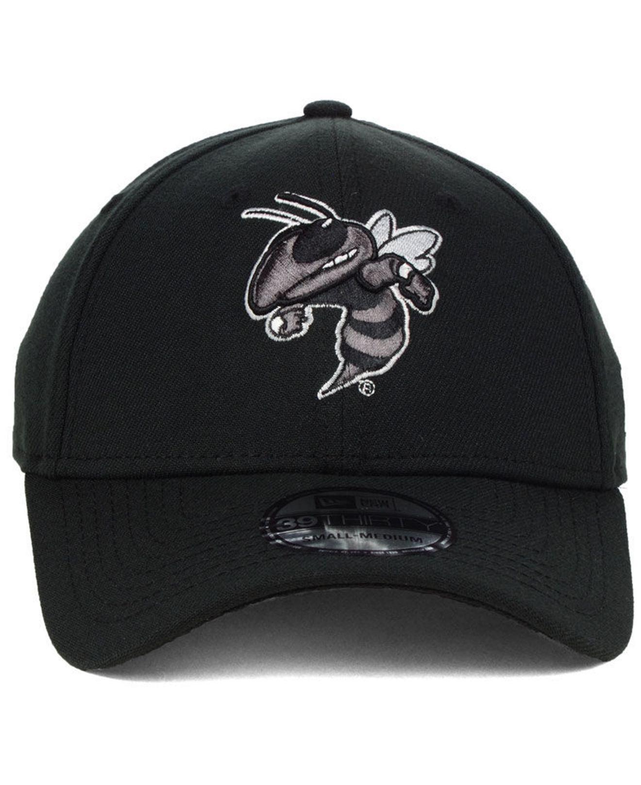 on sale 917ec 15a6c ... discount code for lyst ktz georgia tech black pop flex 39thirty cap in  black for men