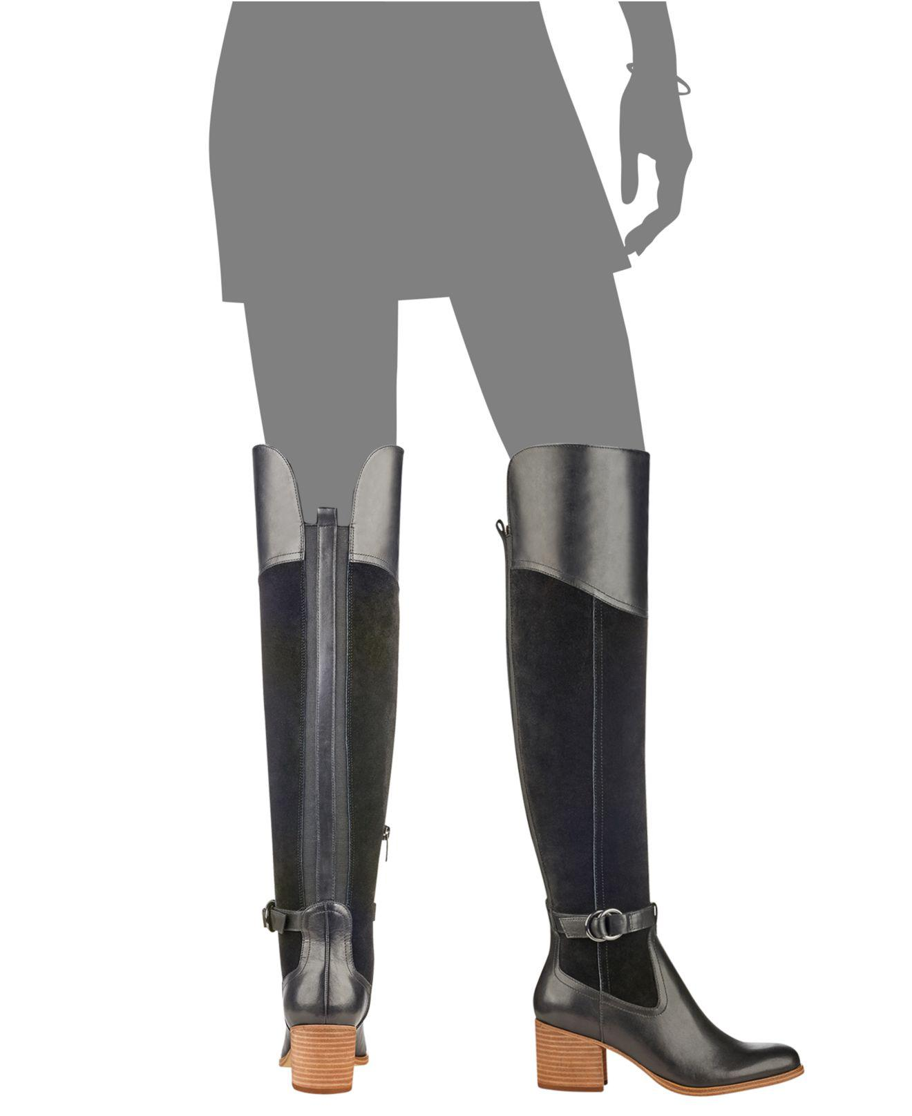 ffecf6be8121 Lyst - Marc Fisher Eisa Over-the-knee Block-heel Boots in Black